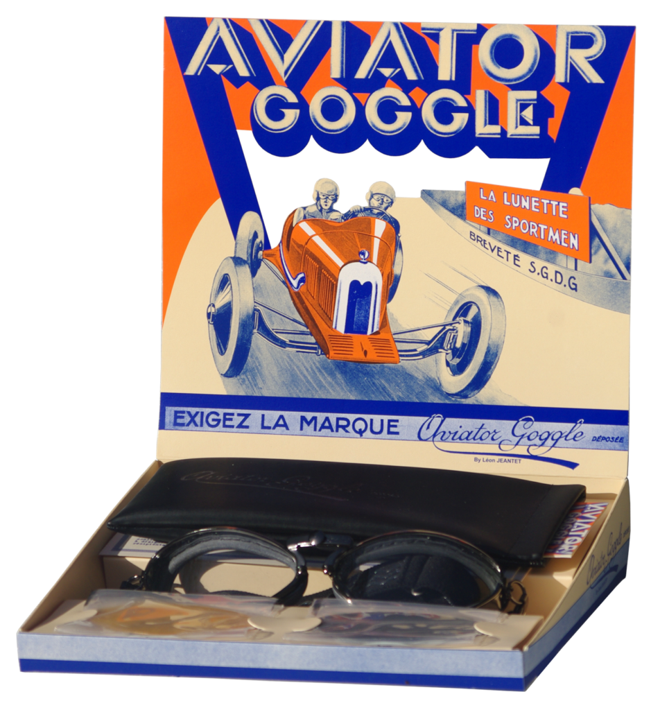 packaging lunettes de protection aviator goggle by leon jeantet